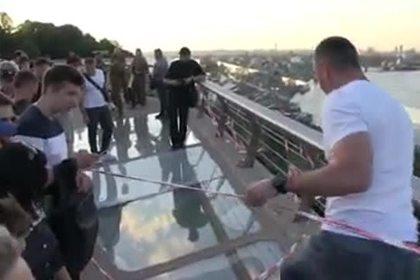 Кличко опубликовал видео треснувшего в Киеве нового моста