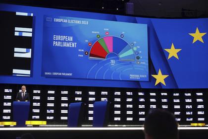 Стали известны предварительные итоги выборов в Европарламент