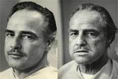 Марлон Брандо в гриме Вито Корлеоне