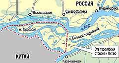 ТЕРРИТОРИИ, ОТХОДЯЩИЕ К КИТАЮ. Карта с сайта www.kp.ru