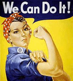 """Плакат с изображением """"клепальщицы Рози"""" и надписью """"Мы это можем!"""", иллюстрация с сайта www.samesexmarriage.ca"""