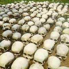ЖЕРТВЫ ГЕНОЦИДА В РУАНДЕ. Фото с сайта www.rwanda.net