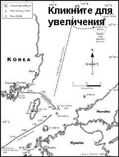 СХЕМА ЦУСИМСКОГО СРАЖЕНИЯ. Карта с сайта pallada.narod.ru