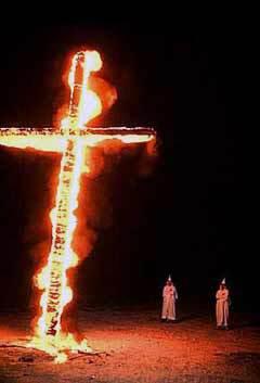 Сожжение креста, фото с сайта Библиотеки Конгресса США