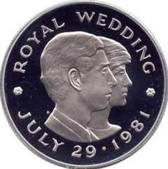 Памятная медаль к бракосочетанию Чарльза и Дианы. Иллюстрация с сайта hiwaay.net