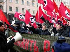 Митинг национал-большевиков в Москве 23 февраля 2005 года. Фото Юлии Вишневецкой, Лента.Ру