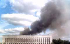 Дым от пожара в Ухте. Фото с сайта ukhta.ru