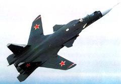 Прототип истребителя пятого поколения - Су-47 также примет участие в авиасалоне. Фото с сайта Airwar.ru