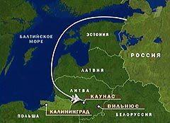 Схема полета Су-27. Кадр Первого телеканала