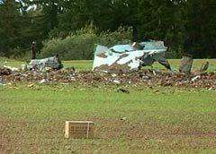 Обломки Су-27 в Литве. Кадр Первого телеканала