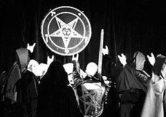 Сатанистский ритуал, фото с сайта churchofsatan.org