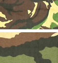 Камуфляжные расцветки вооруженных сил Великобритании и Франции, фото с сайта www.geocities.com/canuck_infantry