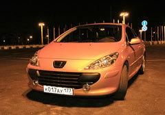 Peugeot 307CC ночью - фотогалерея