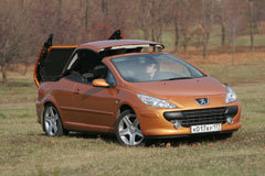Peugeot 307CC днем - фотогалерея