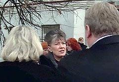 У здания городского суда Нарофоминска, кадр телеканала НТВ