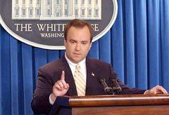 Пресс-секретарь Белого дома Скотт Макклеллан. Фото AFP