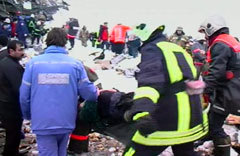 Спасение пострадавших. Кадр телеканала НТВ