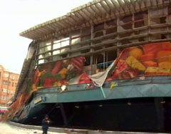 Развалины Басманного рынка. Кадр телеканала НТВ