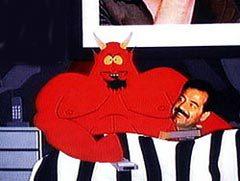 Сатана и Саддам Хусейн, изображение сайта thamike.com