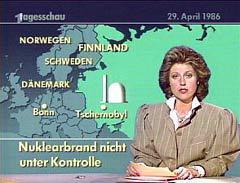 Кадр немецкого Tagesschau из одного из первых репортажей о катастрофе с сайта crop.mur.at