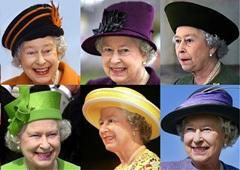 Королева Великобритании и ее шляпы, фото AFP