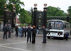 Кордон у входа в Александровский сад, фото Любови Кульковой