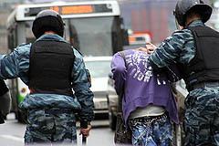 ОМОН уводит гей-активистов, фото Борислава Козловского