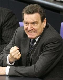Журналисты утверждают, что после усыновления рейтинг Шредера повысился, фото политика с сайта gopvixen.blogs.com