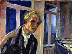 Автопортрет Мунка (1922-1924). Репродукция с сайта музея Мунка