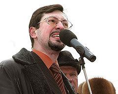 Лидер ДПНИ Александр Белов. Фото Евгения Раздобарина, Лента.Ру