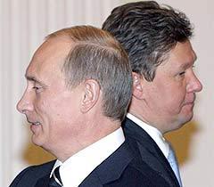 Владимир Путин и Алексей Миллер, фото AFP