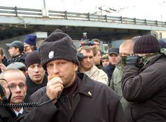 Николай Курьянович на марше. Фото Артема Ефимова, Lenta.Ru