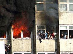 Крупный пожар во Владивостоке. Фото AFP