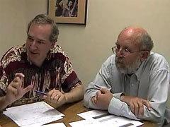 Первооткрыватели планеты Мишель Майор и Стефан Удри. Кадр ESO