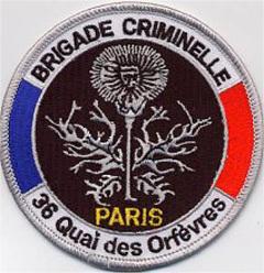 Нашивка уголовной полиции Парижа. Фото с сайта site.voila.fr