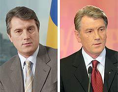 Виктор Ющенко в 2004 и в 2007 годах, фото пресс-службы президента Украины