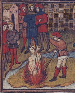 Сожжение тамплиеров в Париже Изображение с сайта wikipedia.org