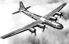 """Бомбардировщик B-29 """"Суперфортресс"""" Фото ВВС США"""