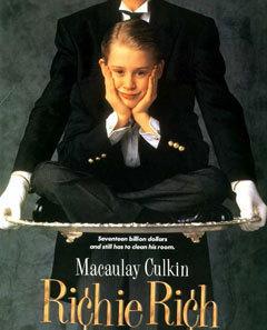Макколей Калкин в роли Богатенького Ричи (Ричи Рича). Постер фильма с сайта geocities.com (чтобы посмотреть всю фотогалерею, кликните, пожалуйста, на картинку)