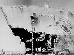 """Повреждения, нанесенные волной-убийцей норвежскому танкеру """"Уильстар"""" в 1974 году. Изображение из отчета по проекту MaxWave."""