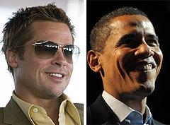 Брэд Питт в фильме Ocean's Thirteen и Барак Обама (фото AFP)