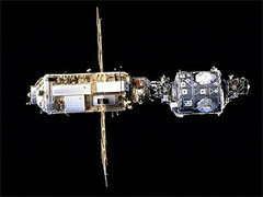 Внешний вид МКС в 1998 году. Фото NASA