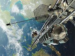 Один из вариантов космического лифта. Изображение с сайта acceleratingfuture.com