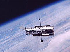 """Телескоп """"Хаббл"""" на орбите Земли. Фото NASA"""