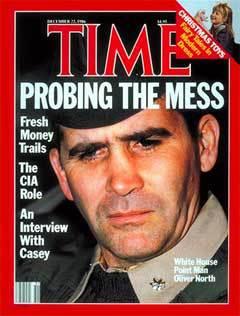 Оливер Норт на обложке журнала Time