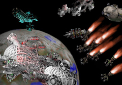 Войны в космосе. Иллюстрация с сайта www.furfur.demon.co.uk