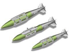 УАБ JDAM с боевыми частями серии Mk84, BLU-109/B, Mk83 (сверху вниз). Иллюстрация с официального сайта USAF