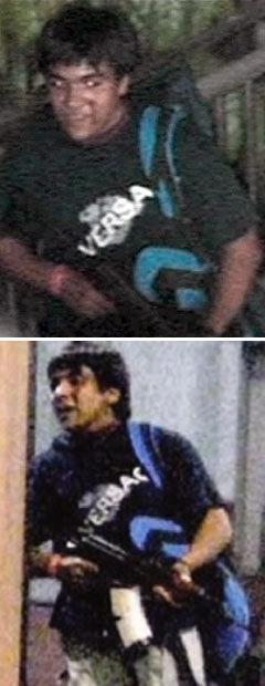 """Террорист в гостинице """"Оберой"""". Кадры индийского телевидения, переданные (c)AFP"""