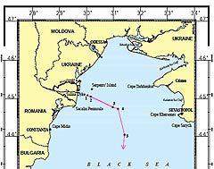 Морская граница по версии Гаагского суда. Кликните для увеличения.