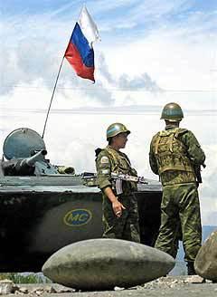 Российские миротворцы в Южной Осетии. Фото AFP